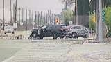 CHP officer involved in car crash, taken to the hospital