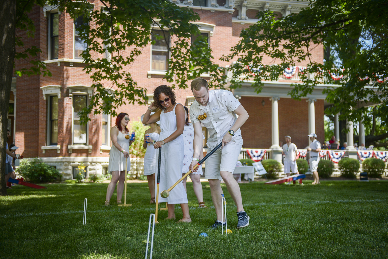The site's largest fundraiser of the year is a croquet tournament called The Wicket World of Croquet. Proceeds from the annual event help the site share high-impact educational programs and tours with more than 17,000 children.{ }/ Image: Visit Indy // Published: 10.23.20