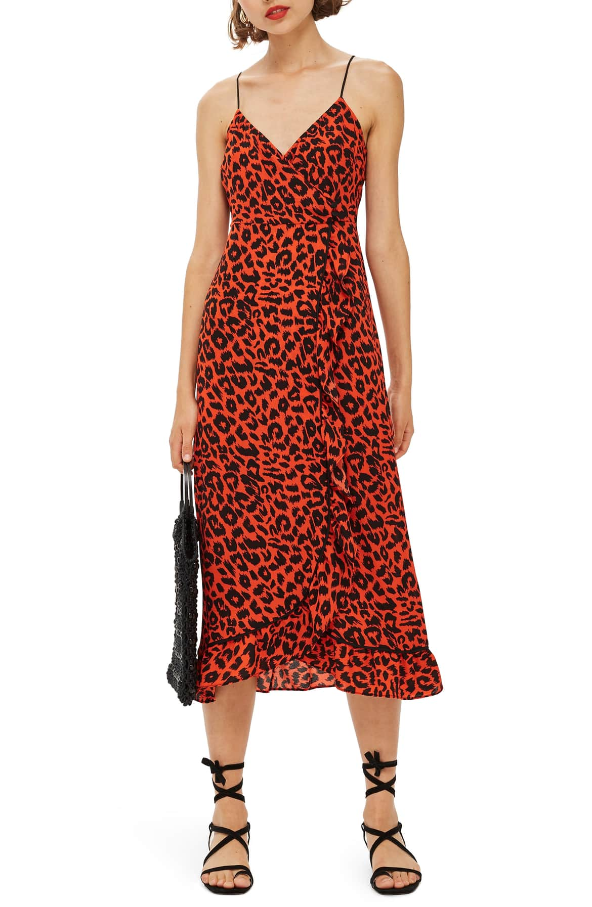 <p>Chic animal print emboldens a breezy slipdress styled with slinky straps and light ruffles fluttering down the front. $75. (Image: Nordstrom){&nbsp;}</p><p></p>
