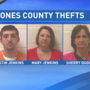 Jones Co. investigators arrest 3 for stealing guns, medications and more from home