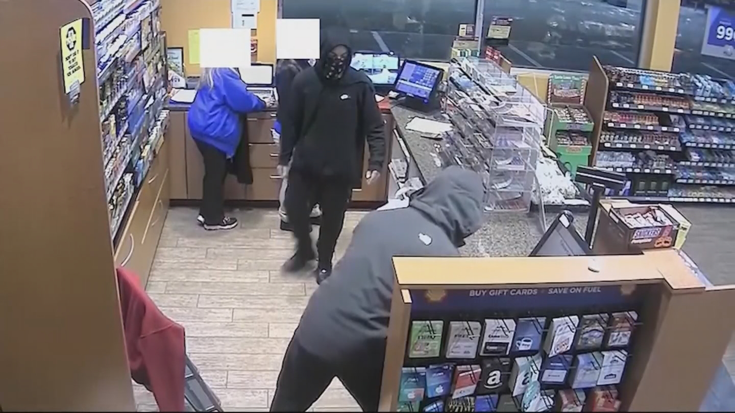 A string of robberies across Rhode Island and Massachusetts are connected, according to authorities. (Surveillance photo)