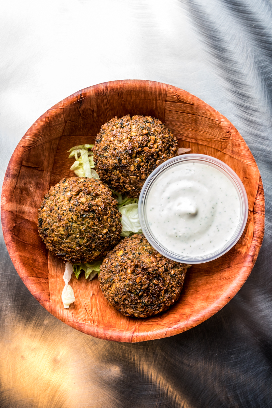 Falafel served with cucumber sauce / Image: Catherine Viox{ }// Published: 1.26.20