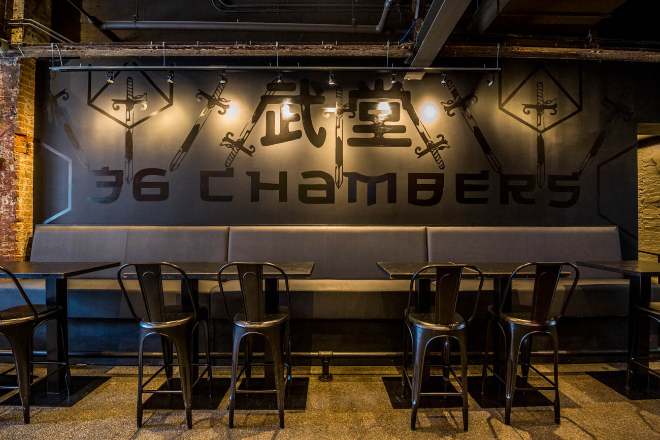 <p>Some of BLDG's mural work inside Kaze and 36 Chambers in Over-the-Rhine / Image: Catherine Viox // Published: 9.24.19</p>