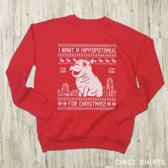 Baby's first Christmas: Fiona winter gear, wrapping paper on sale (Cincy Shirts)