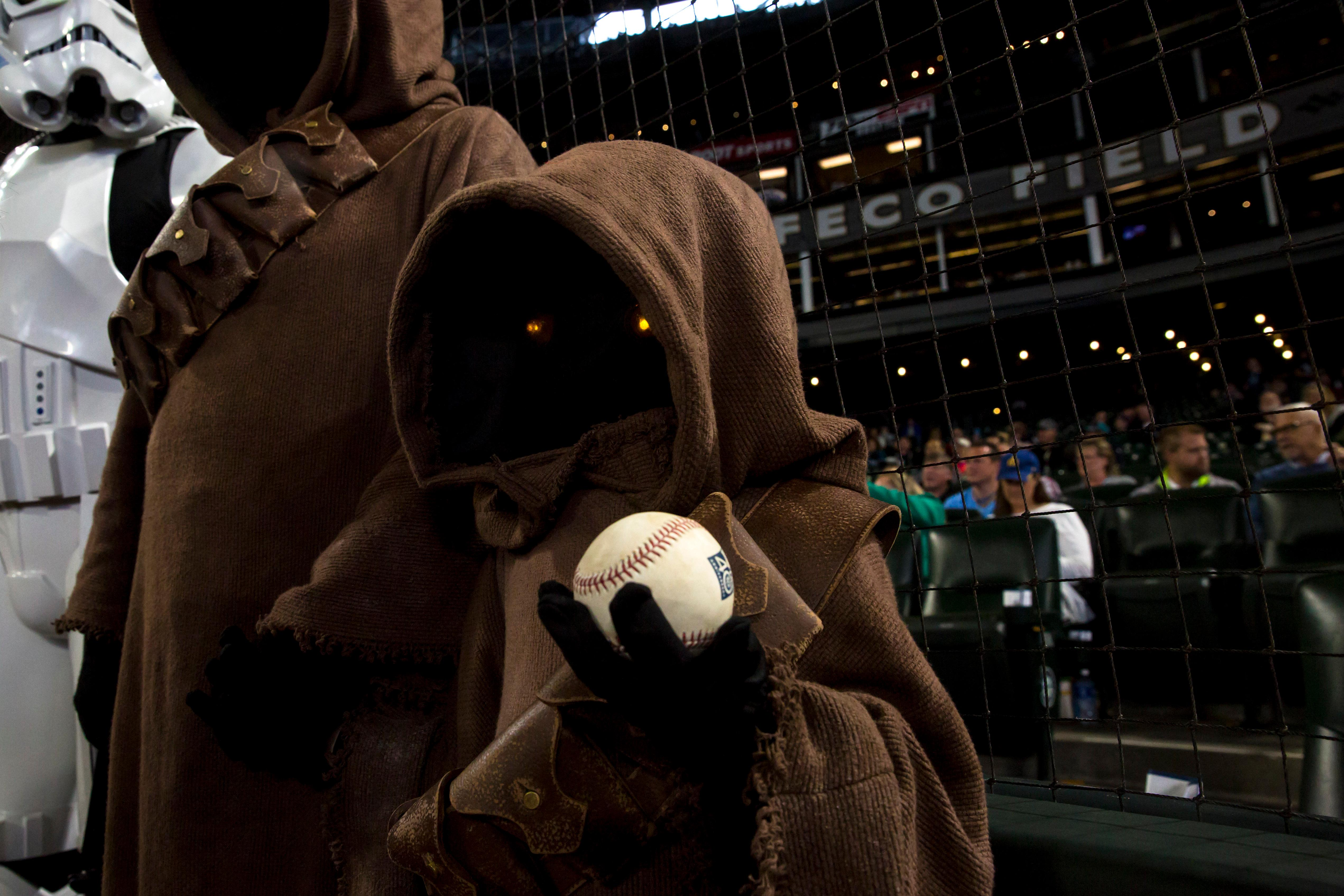 May the fourth be with you! Mariners fans enjoy a Star Wars themed night at Safeco Field on Star Wars Day.