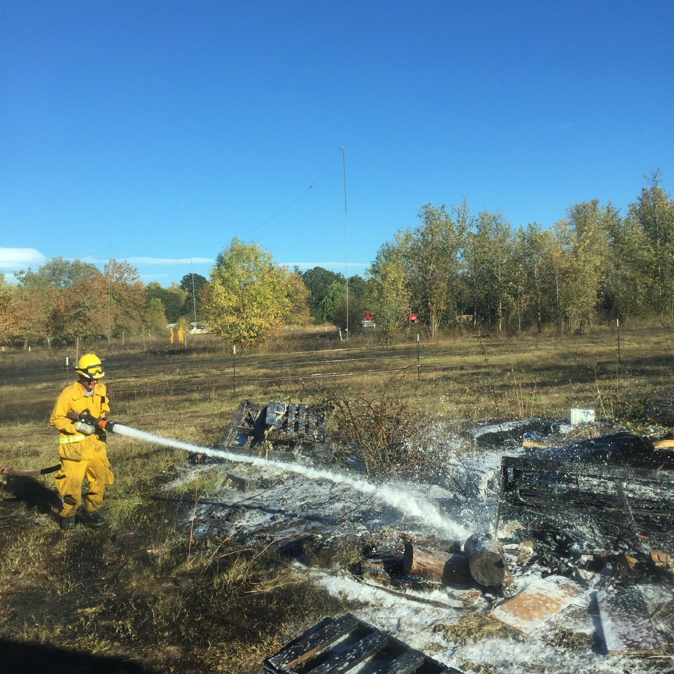 firefighters stop lebanon grass fire from spreading past 3 acres
