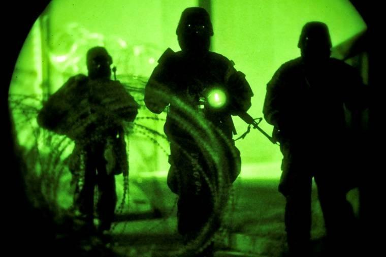 Airmen respond to a ground attack during Beverly Midnight 13-03, an operational readiness exercise on Osan Air Base, South Korea, Aug. 8, 2013. The exercise is designed to test the base's ability to defend and execute the mission in a heightened state of