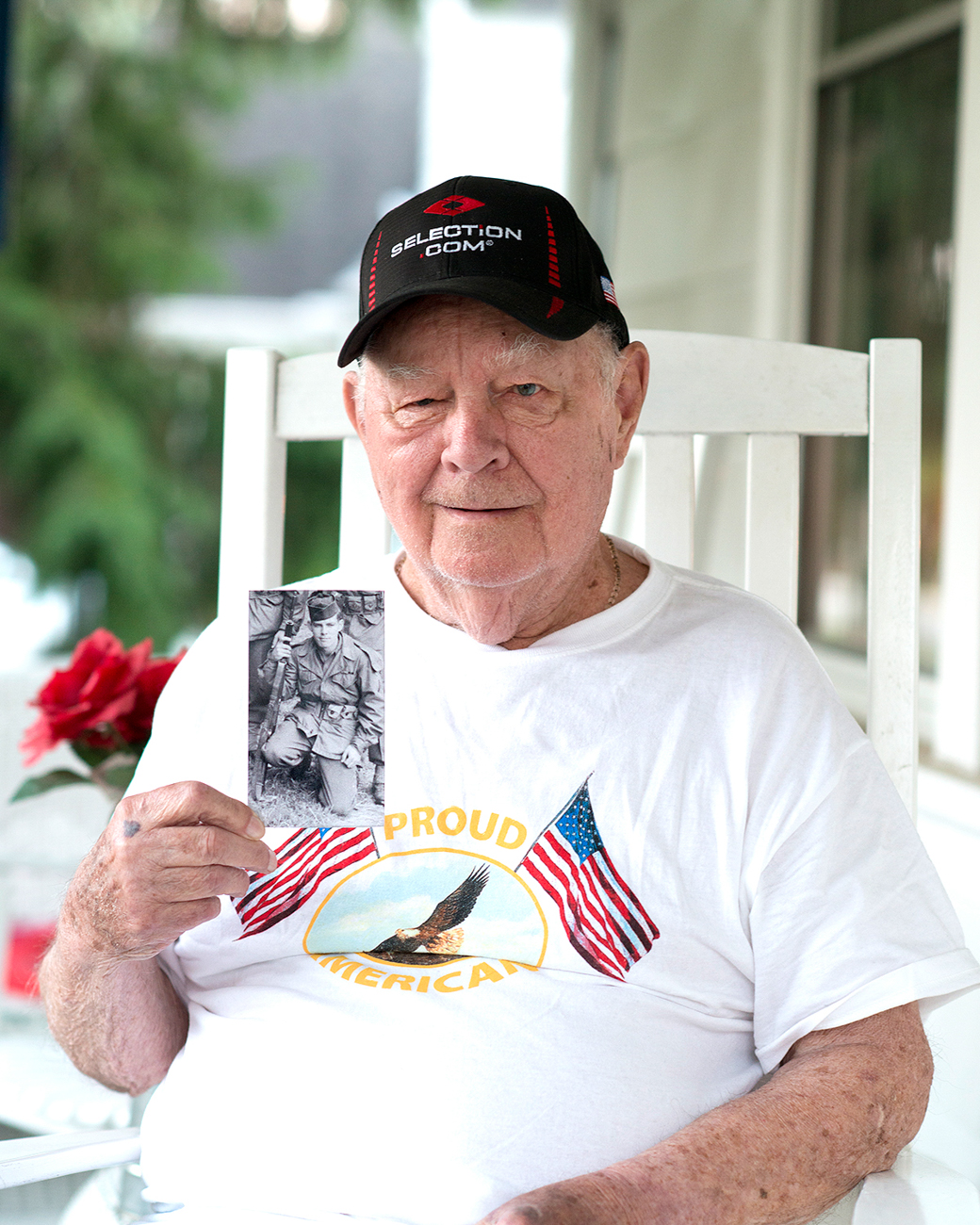 WILLIAM WILCH / He hit the beaches of Normandy on D-Day and miraculously dashed  through a German minefield without being hit by Nazi fire. / Read more of his story at facebook.com/theygaveitall. / Image: Patrick McCue // Published: 1.29.17