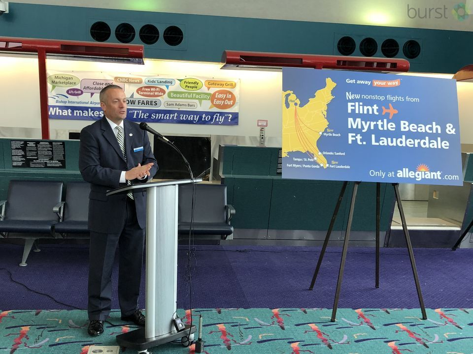 Allegiant announces new, non-stop flights from Flint to Fort Lauderdale and Myrtle Beach. (WEYI/WSMH)