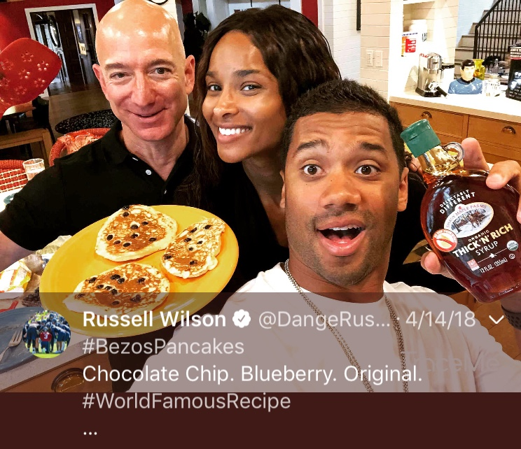 That one time Russ made us all breakfast...Happy 30th birthday, Russell! (Image: @dangerusswilson / twitter.com/dangerusswilson)