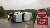 State Police: Man charged after tractor trailer overturns in Amherst Co.