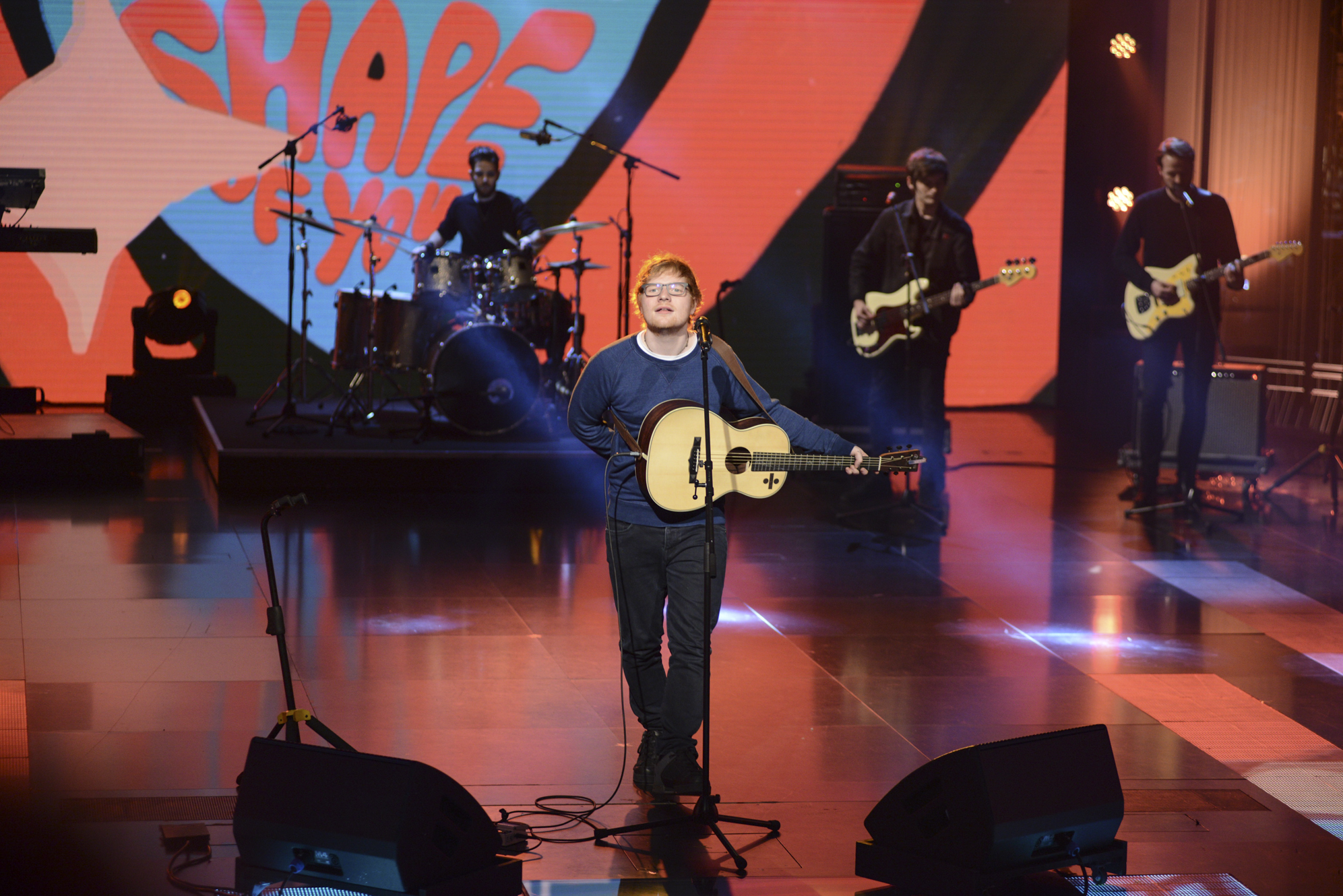 Ed Sheeran, a guest on Italian talk show 'Che tempo che fa,' broadcast on Italian State TV Channel Rai Tre in Milan.  Featuring: Ed Sheeran Where: Milan, Lombardy, Italy When: 12 Mar 2017 Credit: IPA/WENN.com  **Only available for publication in UK, USA, Germany, Austria, Switzerland**