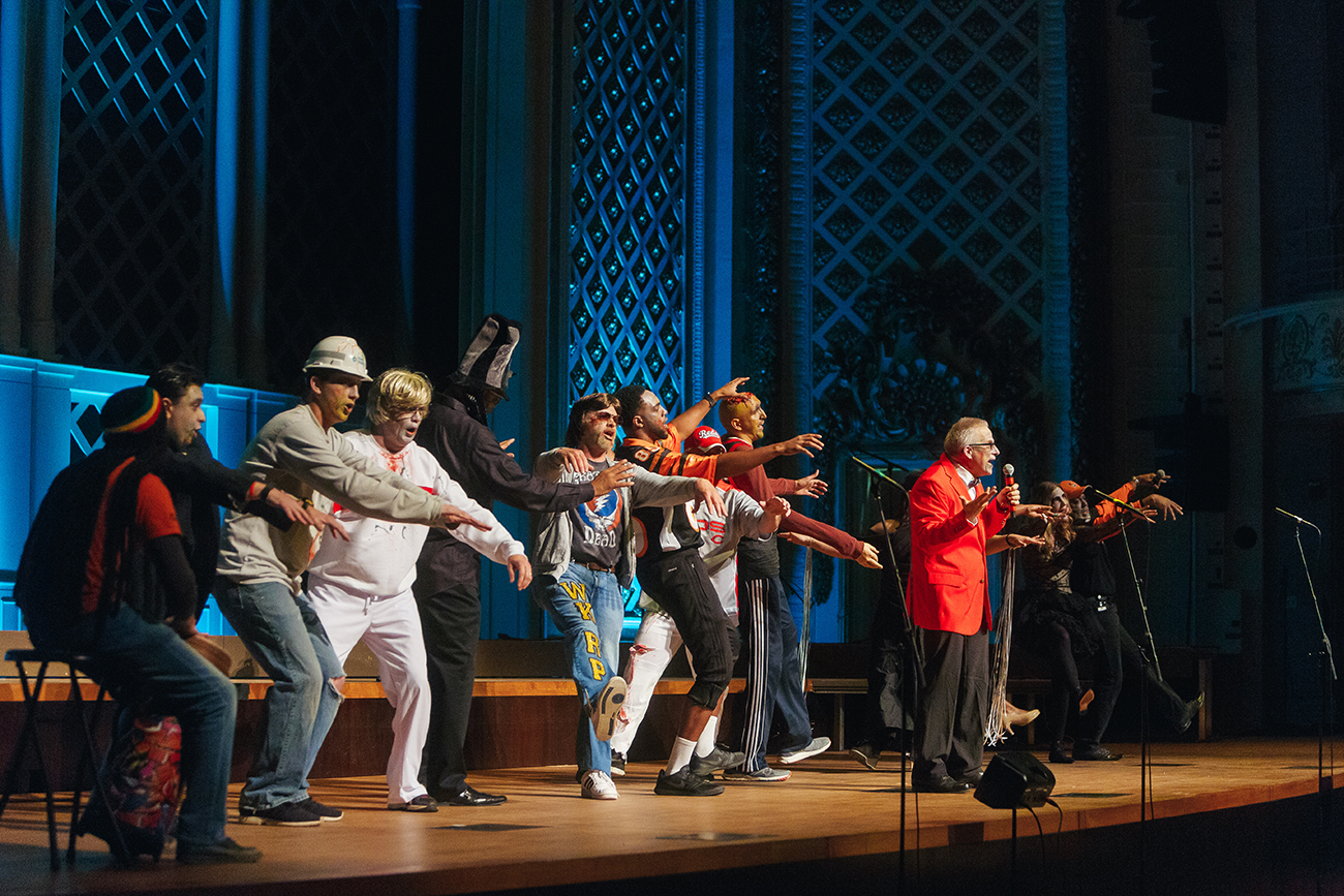 "ArtsWave CincySings, brought to you by Accenture, showcases the singing talent at some of Greater Cincinnati's largest companies, including Duke Energy's ""Power Chords"" team. This year's CincySings finals will be on April 9 at Music Hall. / Image: Good Story Co."