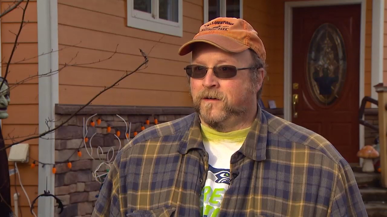 &quot;This is the beautiful, wonderful house,&quot; Richard Guidinger said, after his home was yellow-tagged by the city of Lyman on Monday. &quot;Nothing we can do now. We're just waiting to see, maybe.&quot; (Photo: KOMO News)<p></p>