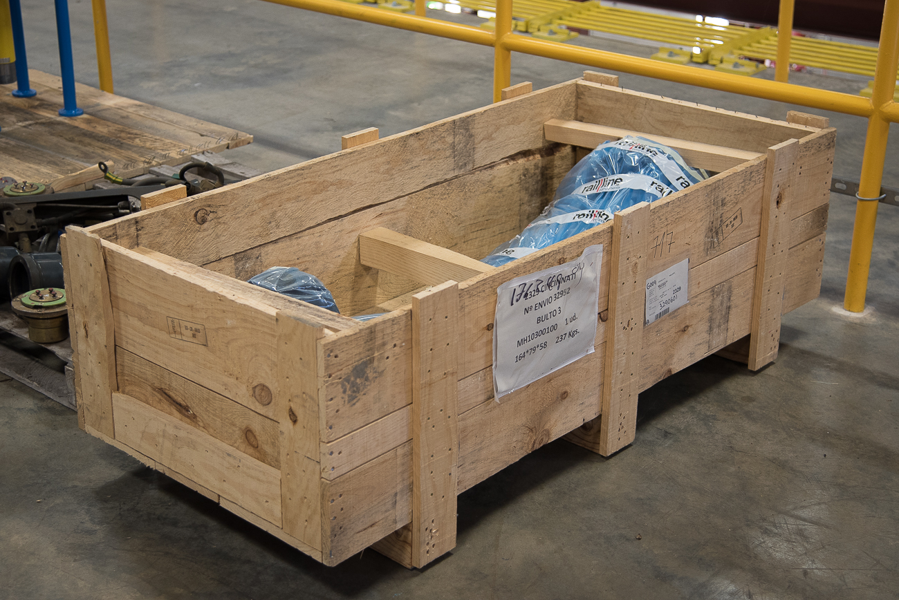 Streetcar parts are stored and shipped in custom-built wooden boxes designed to the specifications of the parts within them. / Image: Phil Armstrong, Cincinnati Refined // Published: 11.13.17<p></p>