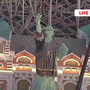 Statue of Liberty at NYNY ready for Vegas Golden Knights playoff game