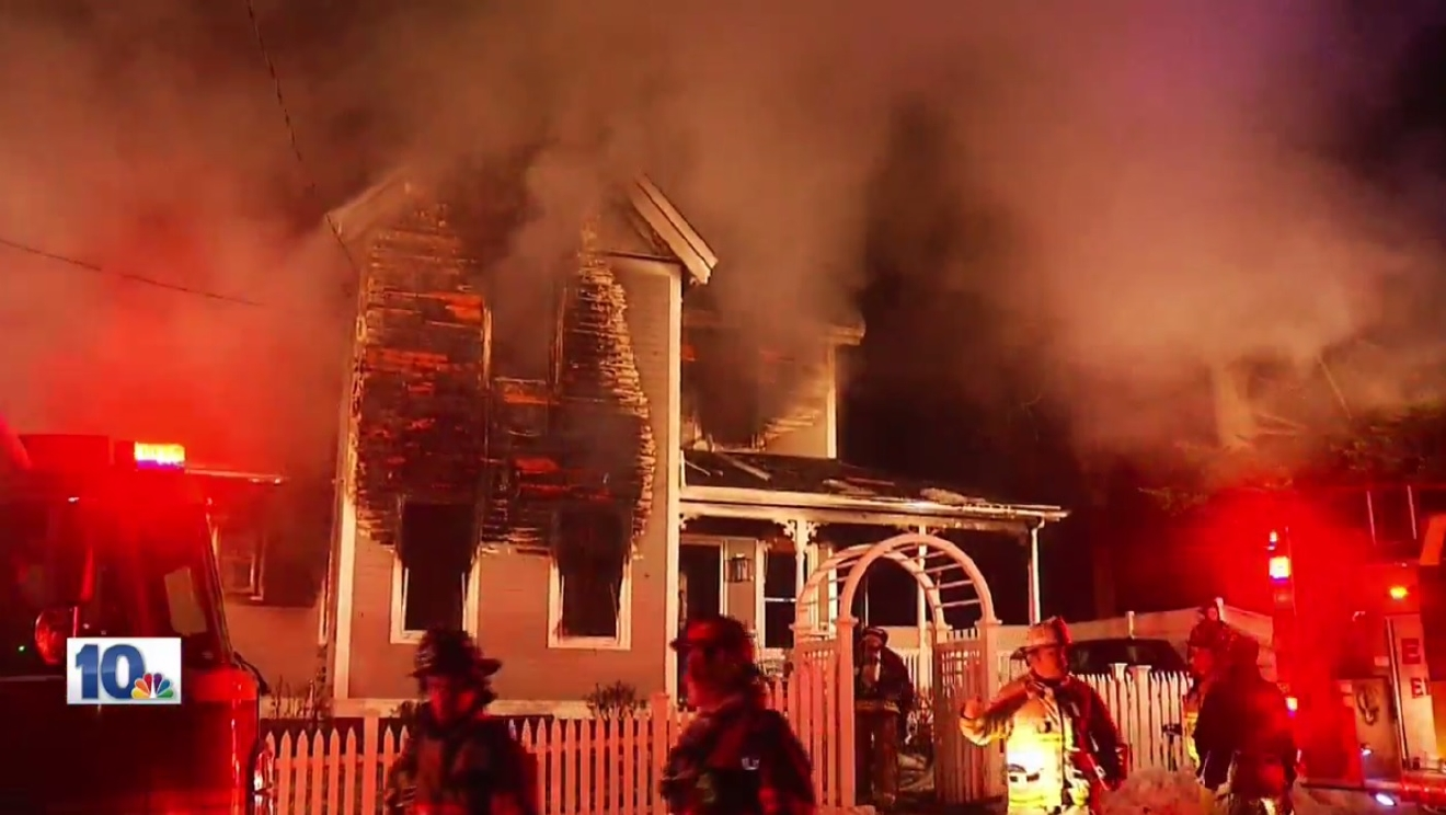 A fire broke out at a home on Reynolds Avenue in East Greenwich Wednesday, Feb. 15, 2017. (WJAR)
