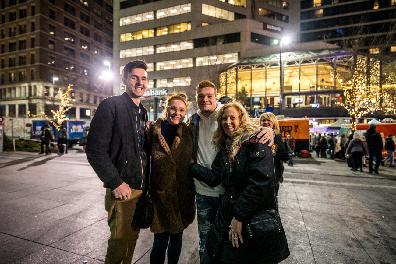 Cole Hopkins with Lindsey, Ryan, and Cheryl Michels / Image: Catherine Viox{ }// Published: 11.30.19