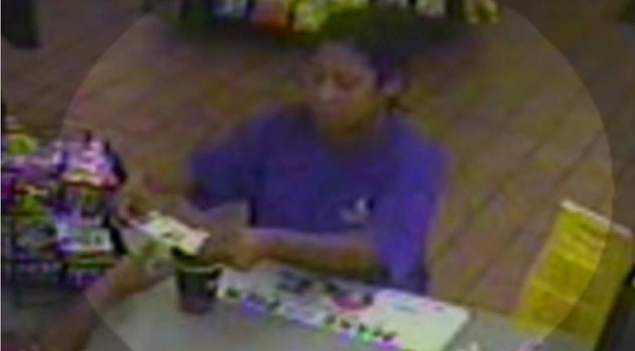 Chattanooga Police released surveillance video of the woman they believe splashed an unknown liquid outside CARTA last month. The incident sent 5 people to the hospital. (Image via Chattanooga Police).<p></p>