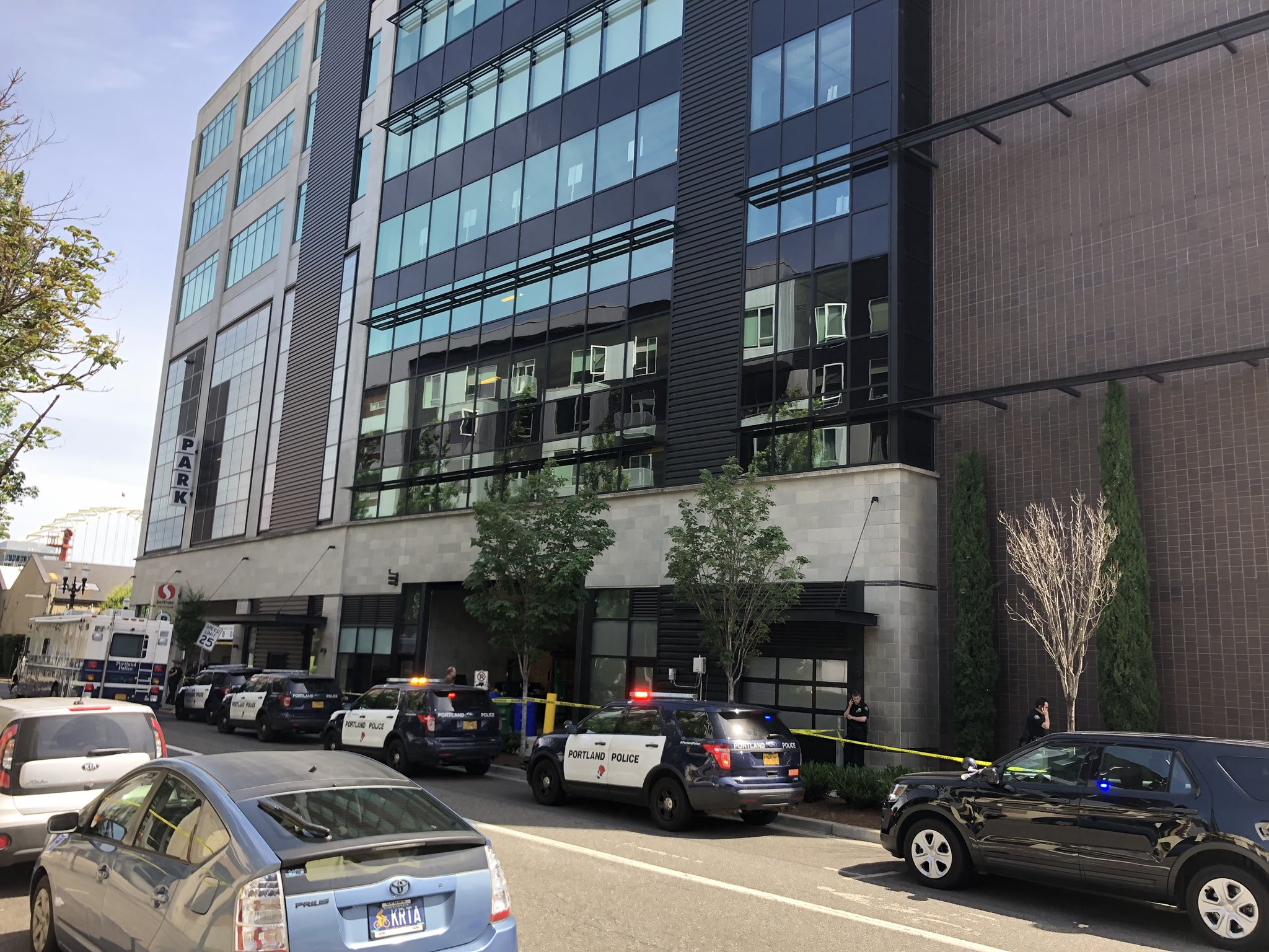 Portland Police Bureau was involved in a shooting inside The Lovejoy building in Portland's Pearl District on June 9, 2019. Photo by Scott Perry{ }