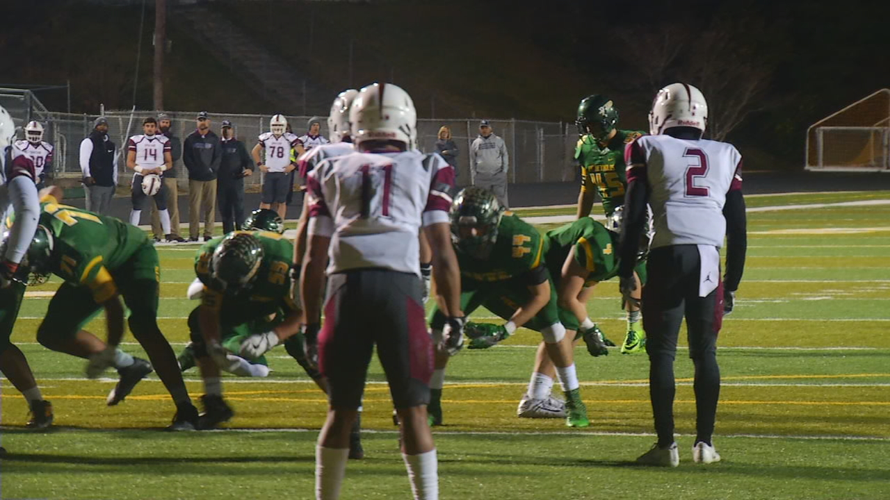 <p>In the 3AA playoffs, No. 2 Reynolds beat No. 12 Sun Valley, 28-25. (Photo credit: WLOS staff)</p>
