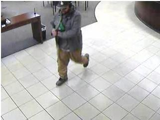 Surveillance footage of the suspect who reportedly robbed the Chase Bank on West 11th have been released by the Eugene Police Department. (Courtesy of the Eugene Police Department)