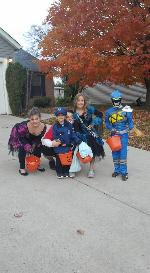 Princesses, police officer, and Mega Man. Submitted by Tiffaney McCoy