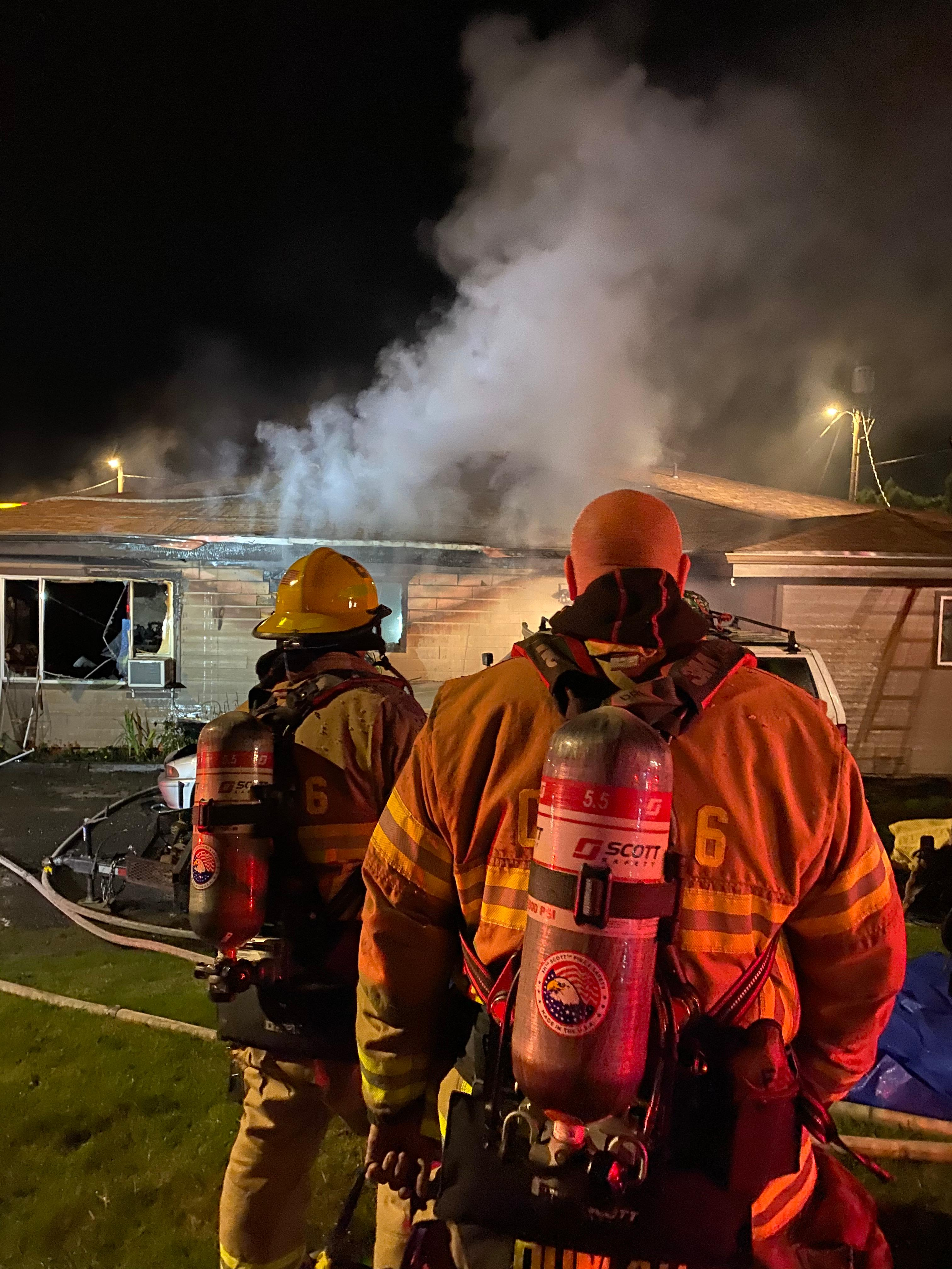 Seven people displaced after apartment fire in Hazel Dell (Courtesy: Clark County Fire)<p></p>