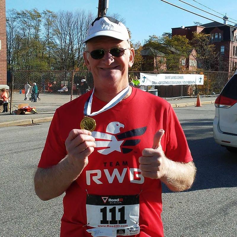 Allyn Genest, 67, set a goal to run 67 road races this year. By the end of November, he will have run in 80 (Courtesy: Allyn Genest).<p></p>