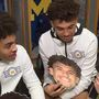 Jordan Poole and Isaiah Livers play the Newlywed game with Jeanna