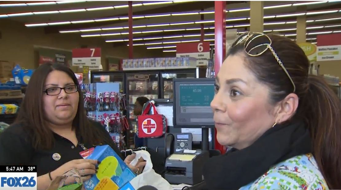 When Liz told Elita FOX26 News and Grocery Outlet were going to buy her groceries, she said she would use the money she saved to feed the homeless.<p></p>