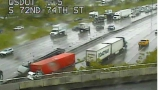 1 dead as separate accidents involving semis snarl I-5 traffic in Tacoma, Olympia