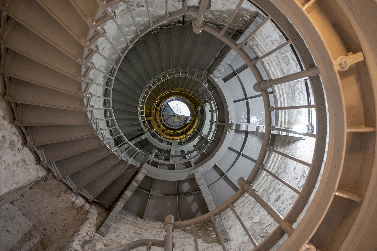 Guests can purchase a $5 ticket and step inside the tower for a closer look. Head up the spiral staircase to the lantern room, 135 steps to the very top. If you're afraid of heights, just don't look down. (Image: Rachael Jones / Seattle Refined)