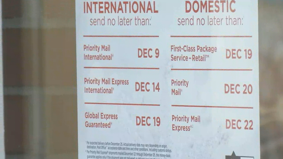 people rush to meet usps deadlines for christmas deliveries wlos