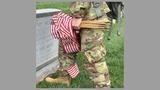 Flags In: Soldiers plant flags for fallen service members at Arlington National Cemetery