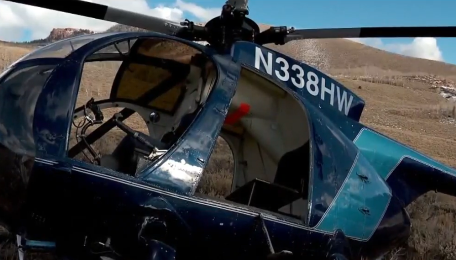 Helicopter taken down by elk was part of DWR's big game program (Photo: KUTV)