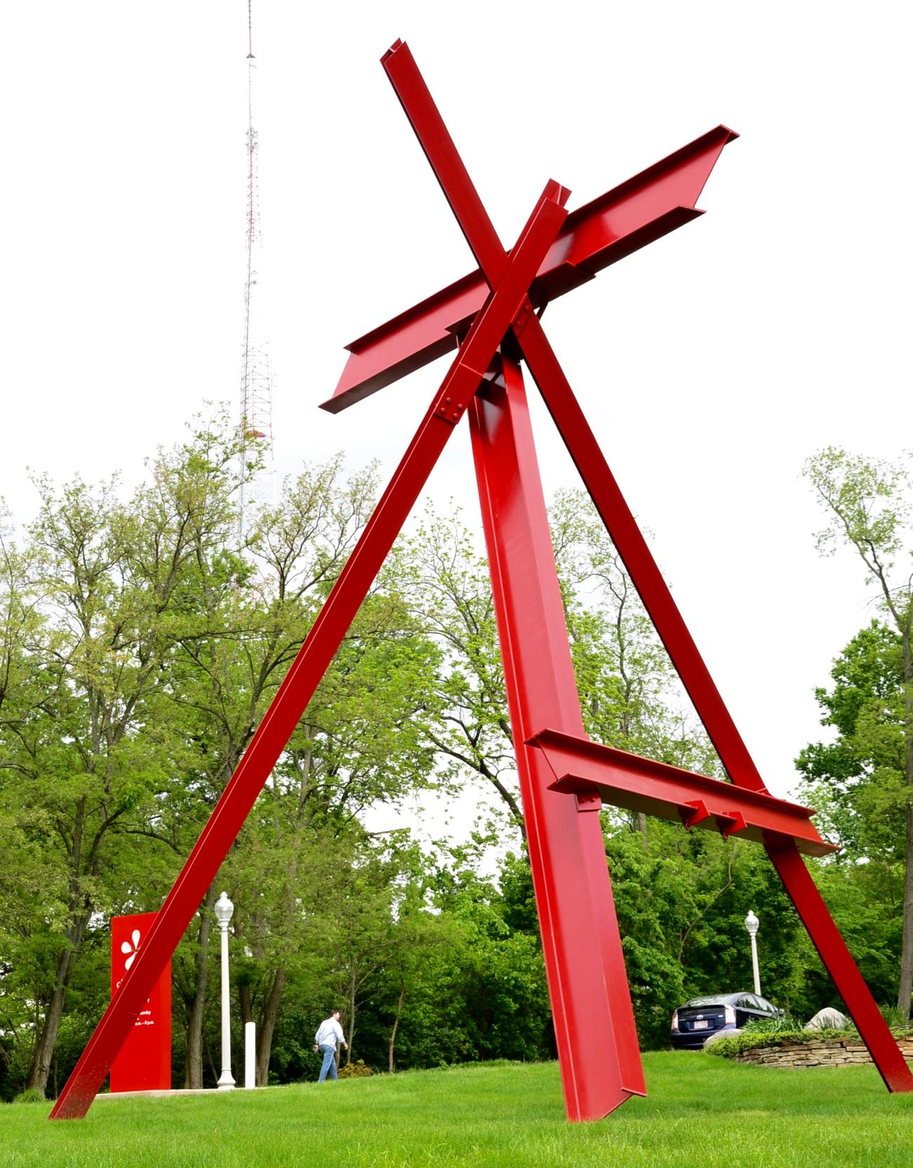 The Atman sculpture (a creation of Mark di Suervo) sits out front of the Cincinnati Art Museum. It was installed in 1986. / Image: Leah Zipperstein, Cincinnati Refined / Info sourced from cincinnatiparks.com // Published: 5.13.17