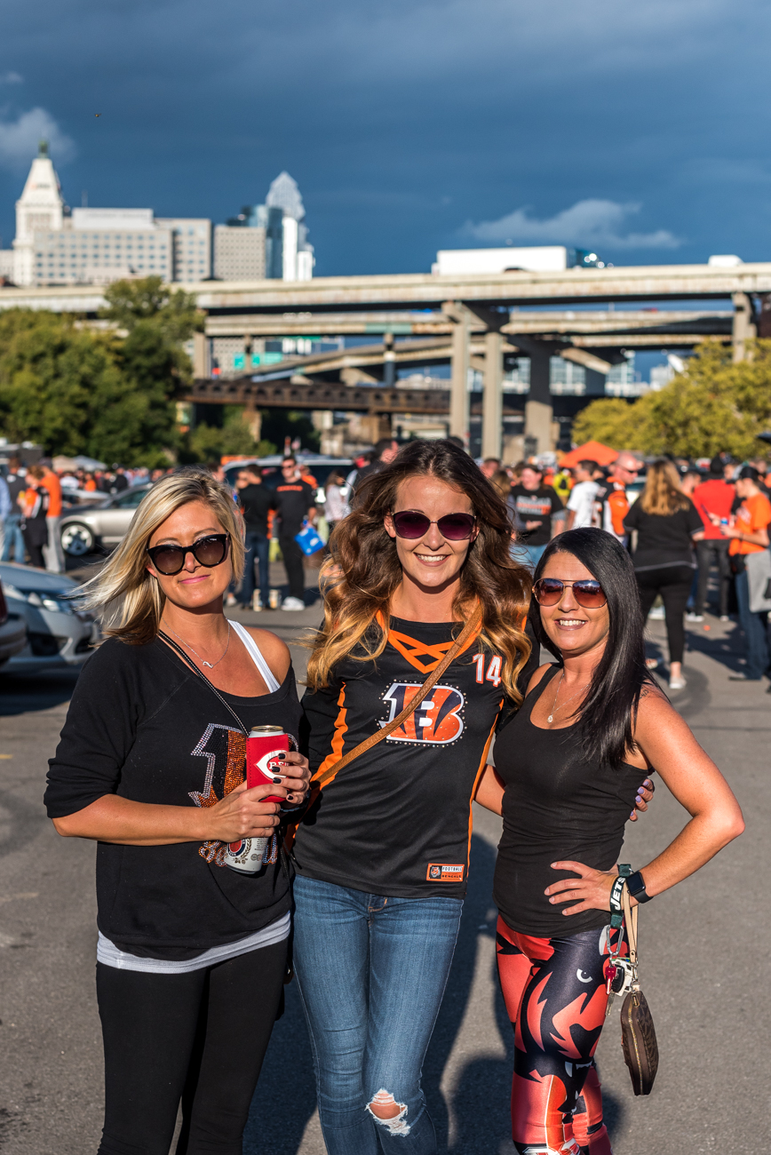 People: Chelsea Jones, Roxanne Godby, and Amanda Griffin / Event: Bengals vs. Texans Game (9.14.17) / Image: Mike Menke / Published: 10.1.17