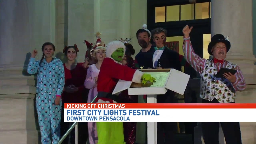 first city lights festival held in downtown pensacola