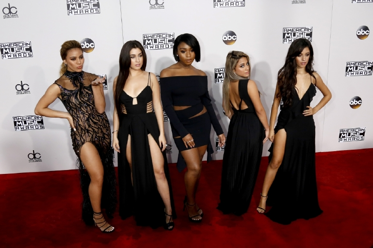 Fifth Harmony attending the 2016 American Music Awards at the Microsoft Theater in Los Angeles, California.  Featuring: Dinah Jane Hansen, Lauren Jauregui, Normani Hamilton, Ally Brooke, Camila Cabello, Fifth Harmony Where: Los Angeles, California, United States When: 20 Nov 2016 Credit: WENN.com  **Not available for publication in Germany**