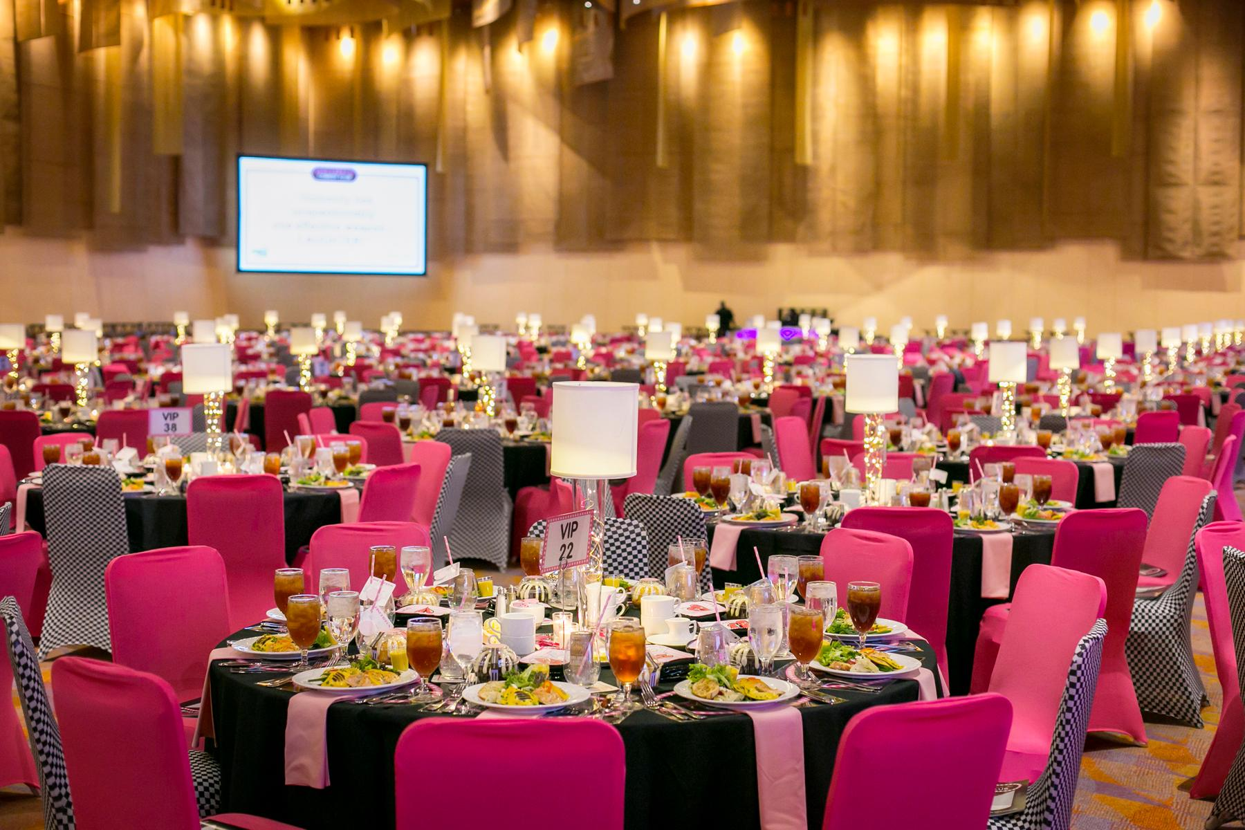 "The 16th annual Pink Ribbon Luncheon (a breast cancer awareness fundraiser) was held at the Duke Energy Convention Center on Thursday, October 18, 2017. The event featured special guest comedian Tom Papa, host of the award-winning podcast ""Come To Papa."" The Cris Collinsworth Proscan Fund was, once again, the annual host of the event. / Image: Mike Bresnen Photography // Published: 10.19.17"