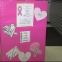 Women in Groves collecting items for breast cancer patients
