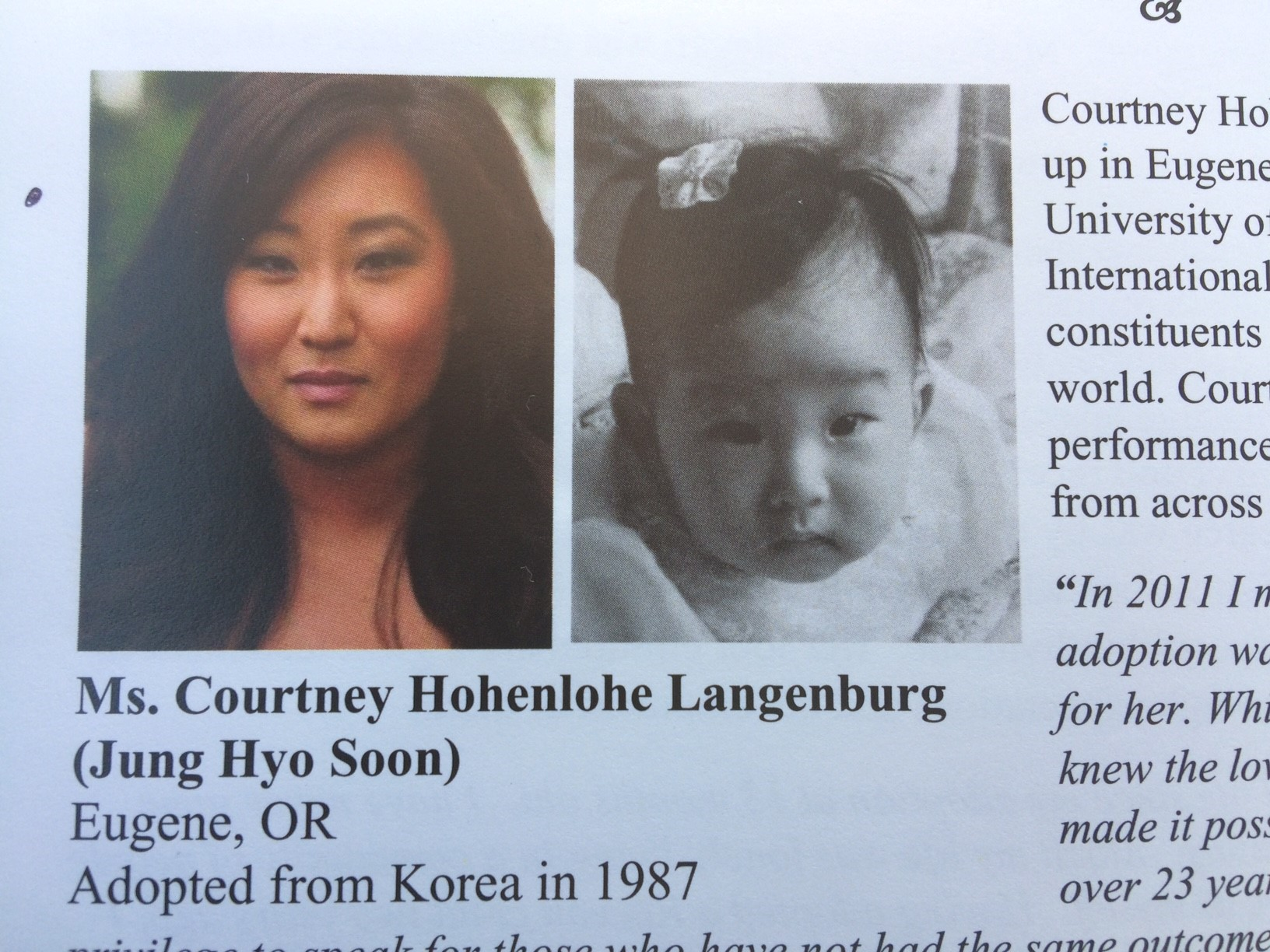<p>Courtney Langenburg is headed to South Korea to visit with her birth mother, 30 years after she flew to the U.S. as an adoptee on Feb. 9, 1988. She first met her birth family back in 2011. (SBG)</p>