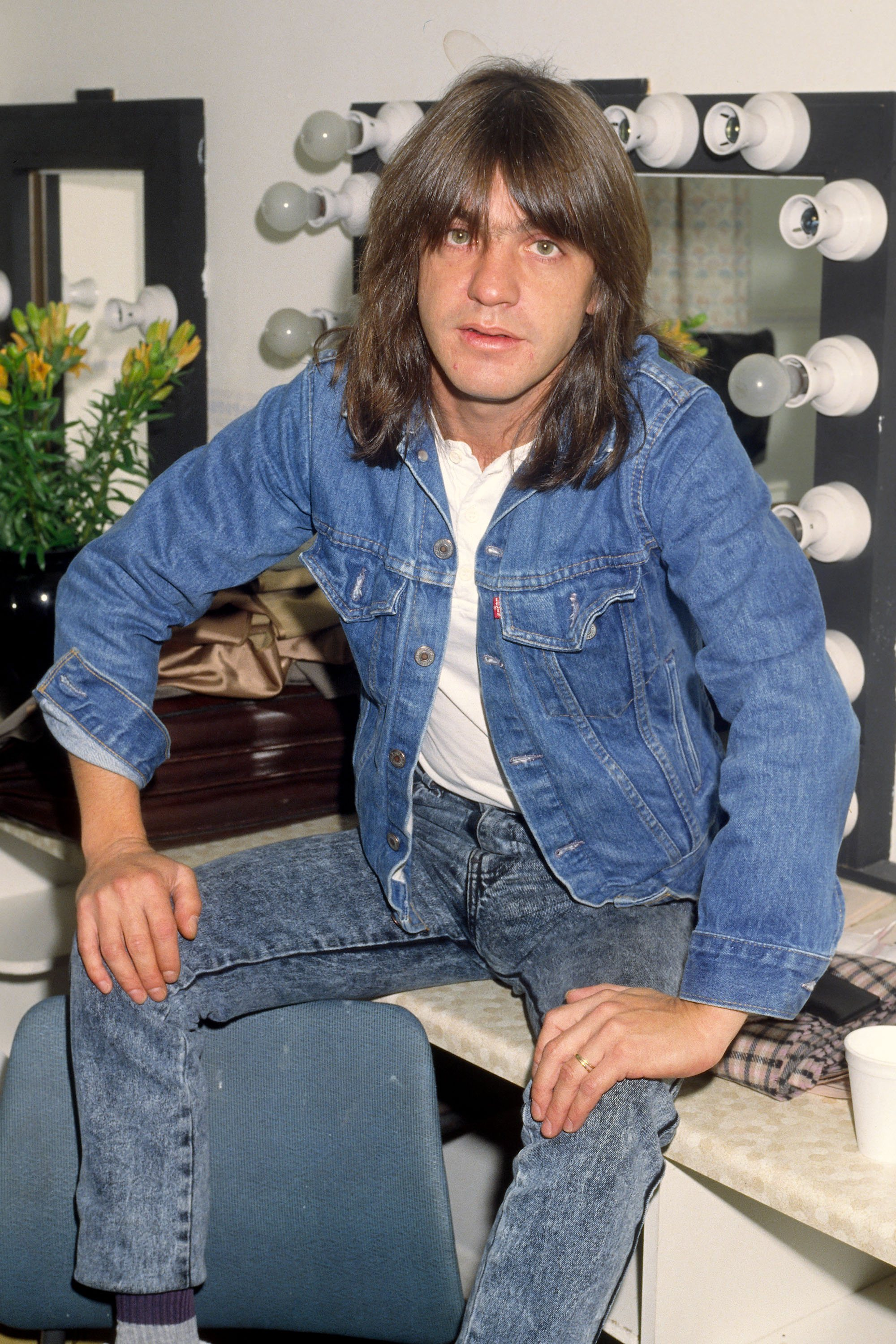 Malcolm Young of AC/DC backstage at Wembley Arena London, England - 10.03.88  Featuring: Malcolm Young Where: London, United Kingdom When: 10 Mar 1988 Credit: WENN  **Only available for publication in USA**