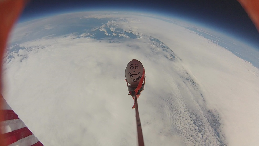 Watch: Students send gummy bears, egg, and poetry on epic 18 mile high journey to the sky