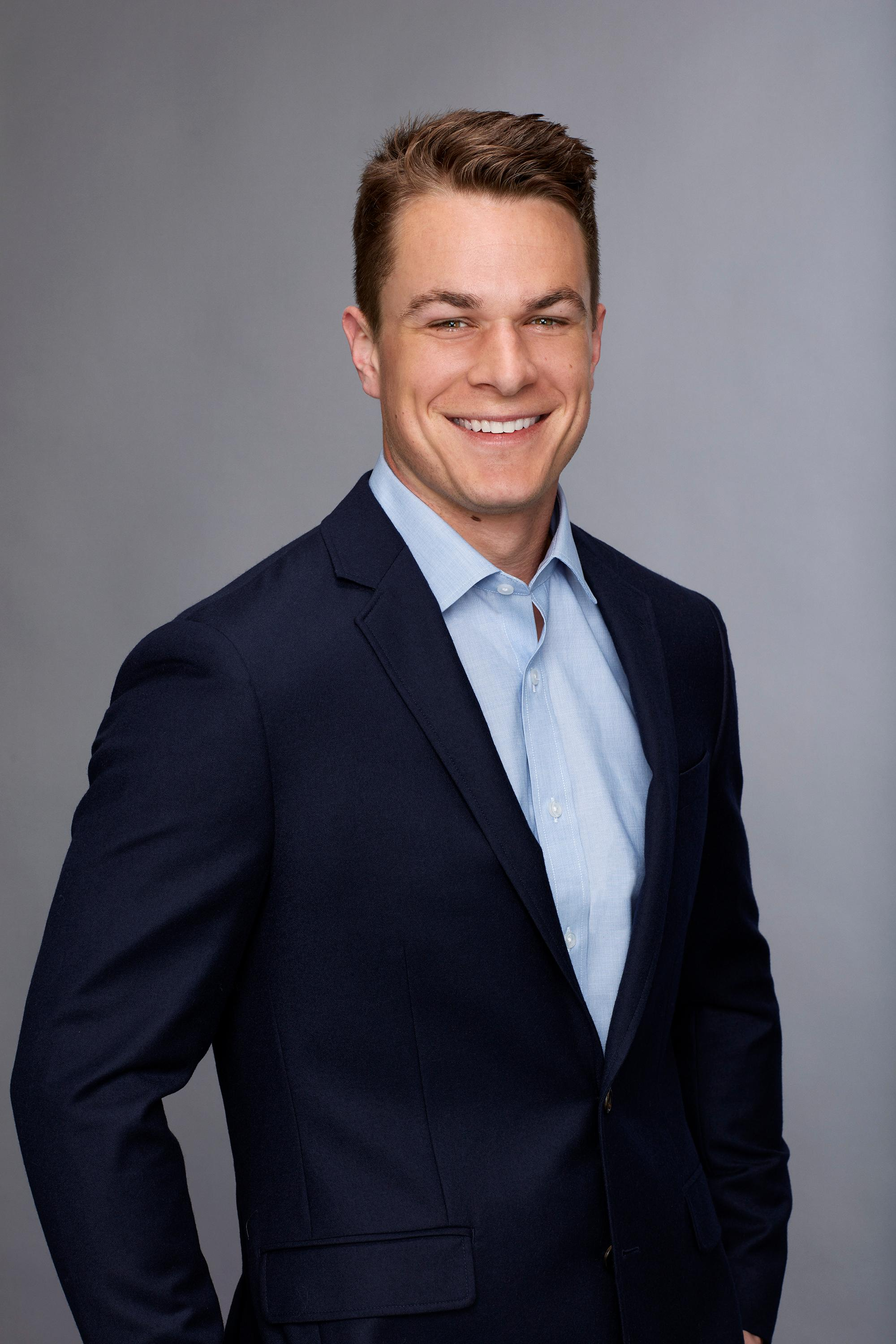 Grant is a fourth generation electrician ... [and] If the Bachelorette can handle a healthy dose of sarcasm, there will definitely be sparks with Grant! (Image: ABC/Craig Sjodin)