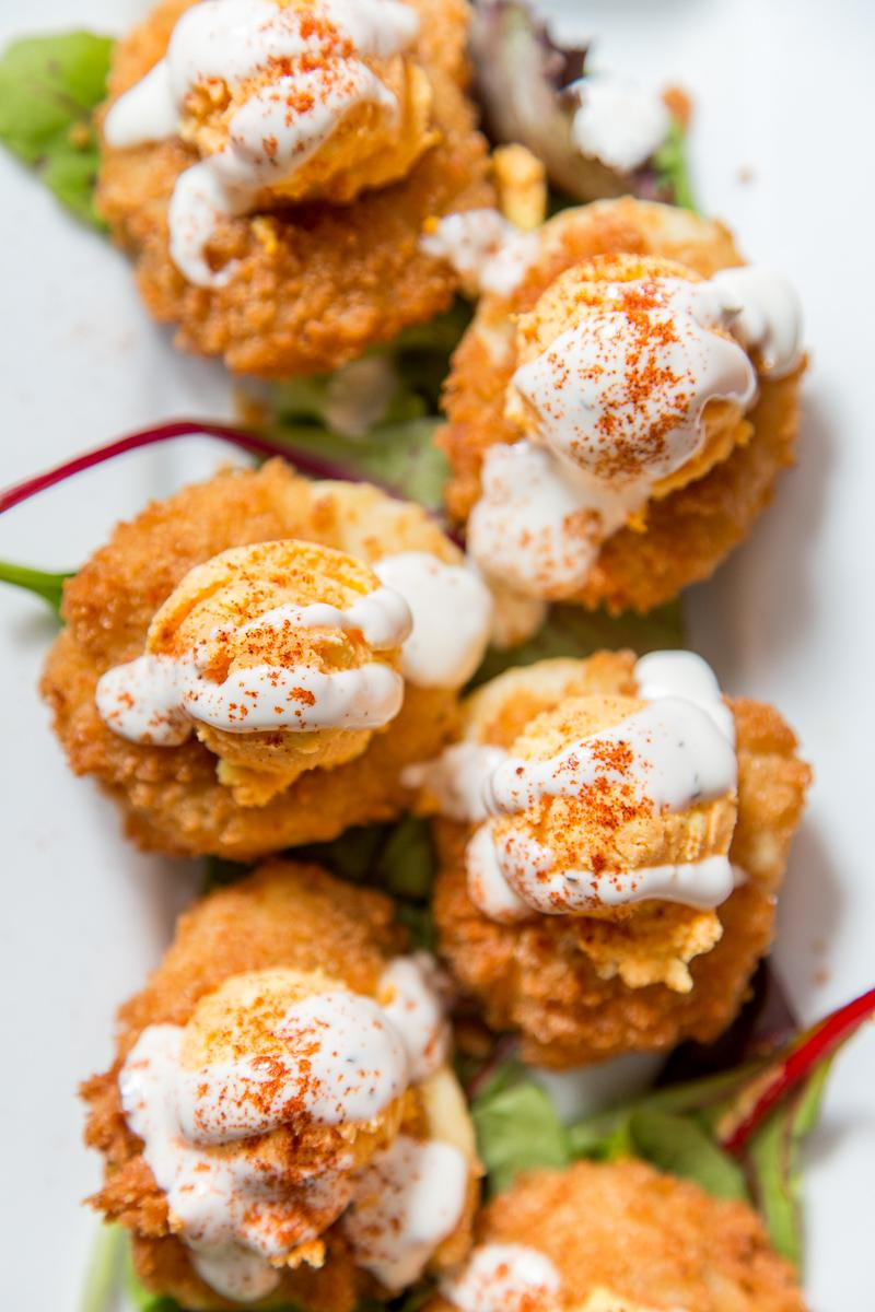 Very Deviled Eggs ('Cause who doesn't love a deep-fried egg?)  --  Image: Daniel Smyth Photography