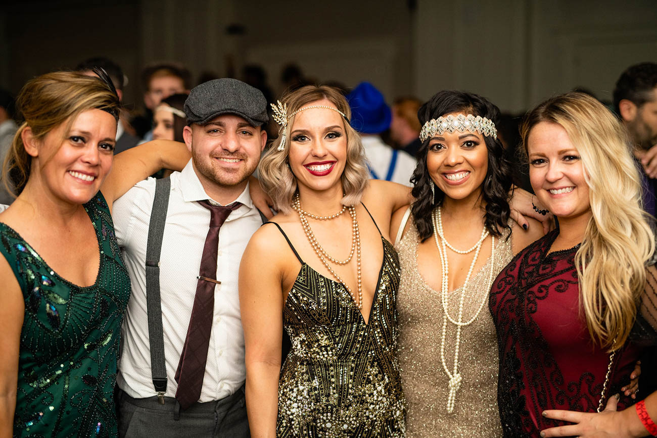 "Party guests followed the 1920s theme with their outfits at the 21c Museum Hotel New Year's Eve party on Monday, December 31. The party was called ""Gilded Eve: Confuse Reality with its Replica"" / Image: Sam Greenhill, via 21c Museum Hotel // Published: 1.3.19"