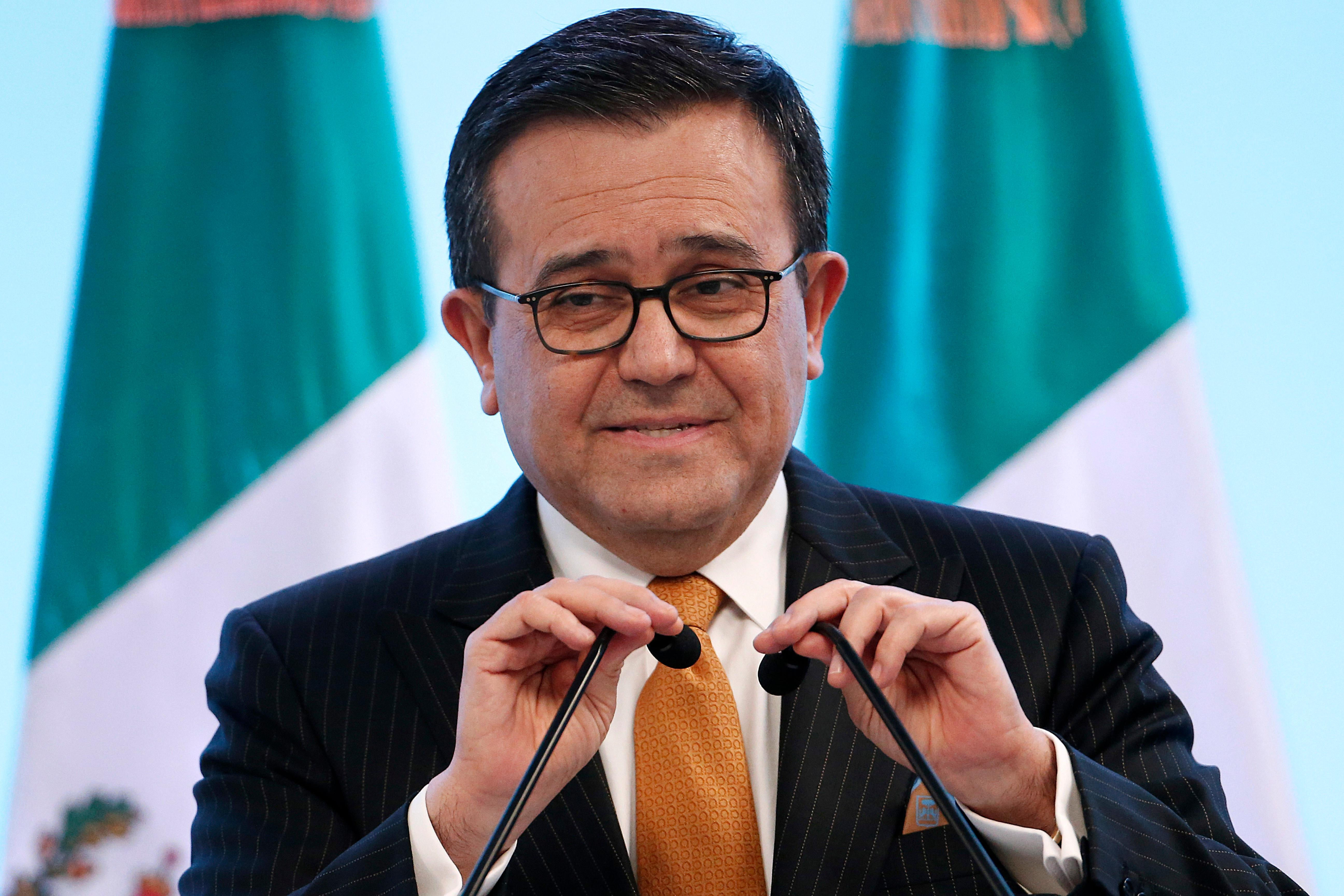 Mexico's Secretary of Economy Ildefonso Guajardo Villarreal speaks during a press conference regarding the seventh round of NAFTA renegotiations in Mexico City, Monday, March 5, 2018. (AP Photo / Marco Ugarte)