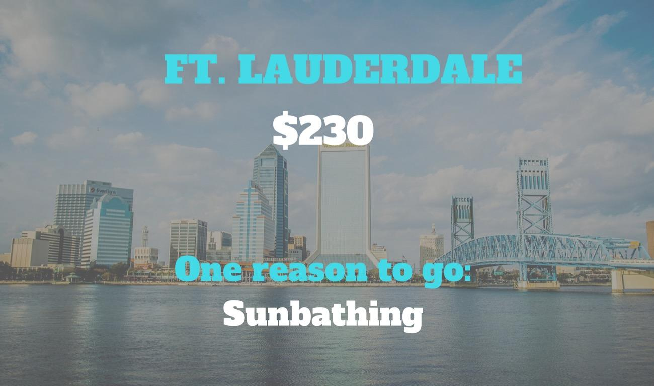 CITY: Ft. Lauderdale / DISTANCE: 930 miles from Cincinnati /  REASON TO GO: Many Cincy snow birds fly south for the winter. Plus, you work hard and deserve that vacation on the beach. / Image courtesy of Greater Fort Lauderdale Convention and Tourism Bureau // Published: 8.30.18